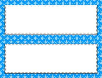 Blank Poster Templates - 11x4.25 Basics: Scalloped Diamonds