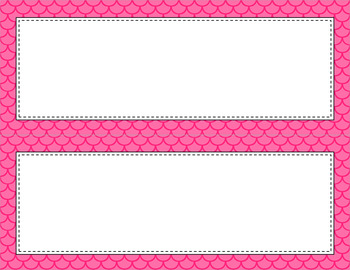 Blank Poster Templates - 11x4.25 Basics: Scalloped (Inverted)