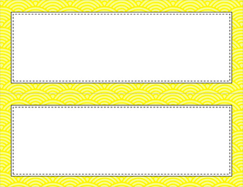 Blank Poster Templates - 11x4.25 Basics: Scalloped Lined