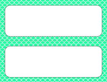 Blank Poster Templates - 11x4.25 Basics: Scalloped & White