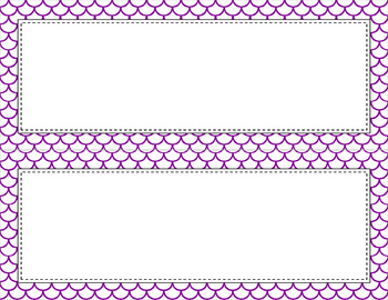 Blank Poster Templates - 11x4.25 Basics: Scalloped & White (Inverted)