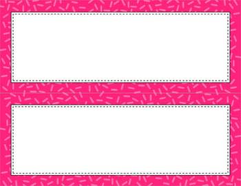 Blank Poster Templates - 11x4.25 Basics: Sprinkles (Inverted)