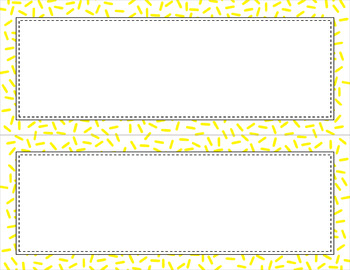 Blank Poster Templates (11x4.25) Essentials & White: Sprinkles