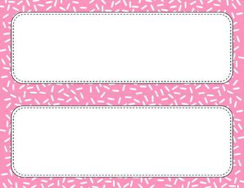 Blank Poster Templates - 11x4.25 Basics: Sprinkles & White (Inverted)