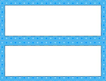 Blank Poster Templates - 11x4.25 Basics: Squares