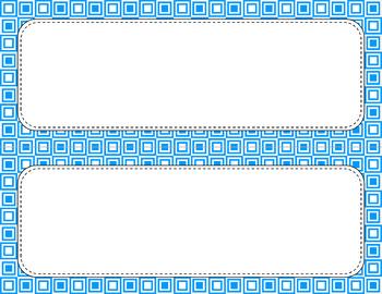 Blank Poster Templates - 11x4.25 Basics: Squares & White