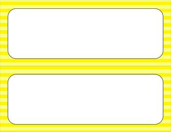 Blank Poster Templates - 11x4.25 Basics: Stripes