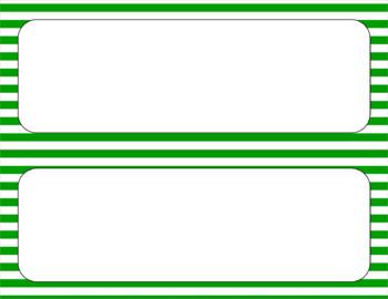 Blank Poster Templates - 11x4.25 Basics: Stripes & White