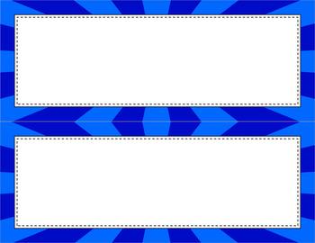 Blank Poster Templates - 11x4.25 Basics: Sunburst