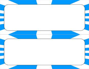 Blank Poster Templates - 11x4.25 Basics: Sunburst & White