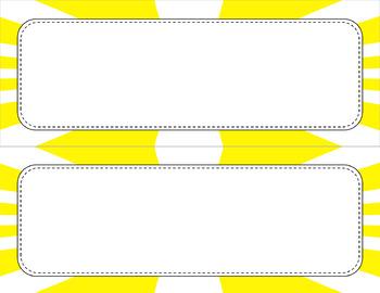Blank Poster Templates (11x4.25) Essentials & White: Sunburst