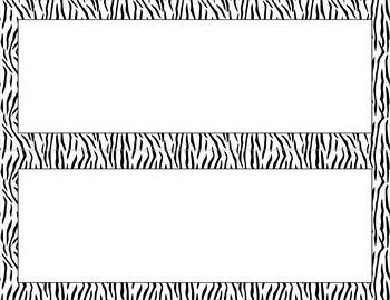 Blank Poster Templates (11x4.25) Essentials & White: Tiger Stripes