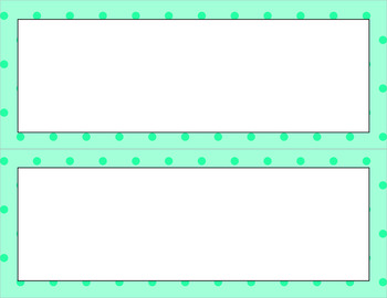 Blank Poster Templates - 11x4.25 Basics: Tiny Dots
