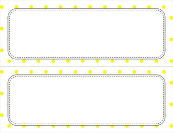 Blank Poster Templates (11x4.25) Essentials & White: Tiny Dots
