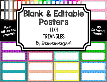Blank Poster Templates - 11x4.25 Basics: Triangles