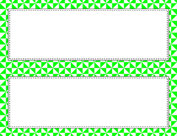 Blank Poster Templates (11x4.25) Essentials & White: Triangles