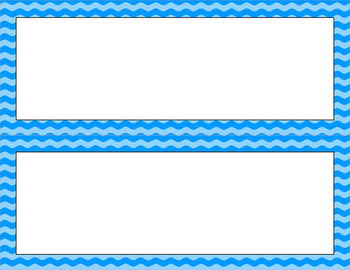 Blank Poster Templates - 11x4.25 Basics: Waves