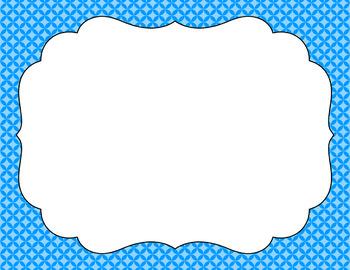 Blank Poster Templates (11x8.5) Essentials: Circle Diamonds (Inverted)