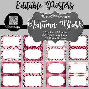 Blank Poster Templates (5.5x8.5) Dual-Color Collection: Autumn Blush