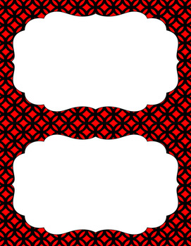 Blank Poster Templates (5.5x8.5) Dual-Color Collection: Black, Red, and White