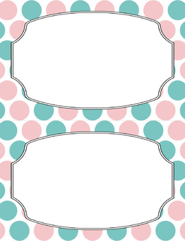 Blank Poster Templates (5.5x8.5) Dual-Color Collection: Candy Shoppe