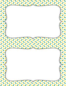 Blank Poster Templates (5.5x8.5) Dual-Color Collection: Carefree