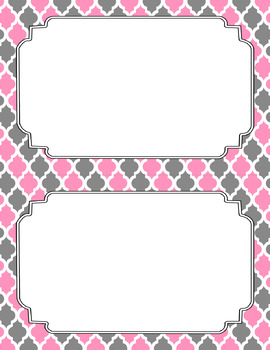 Blank Poster Templates (5.5x8.5) Dual-Color Collection: Cashmere