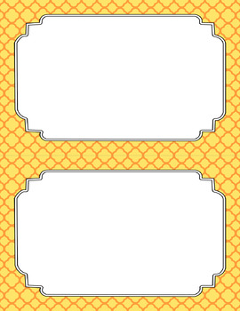 Blank Poster Templates (5.5x8.5) Dual-Color Collection: Citrus