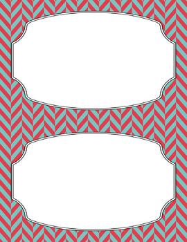 Blank Poster Templates (5.5x8.5) Dual-Color Collection: Coastal Affair