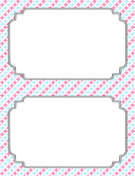 Blank Poster Templates (5.5x8.5) Dual-Color Collection: Cotton Candy