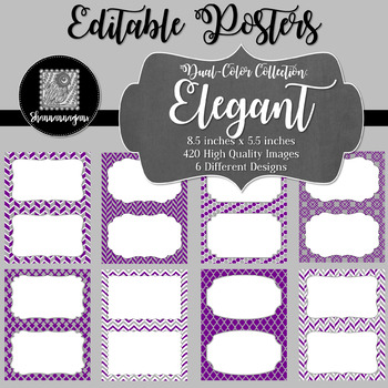 Blank Poster Templates (5.5x8.5) Dual-Color Collection: Elegant
