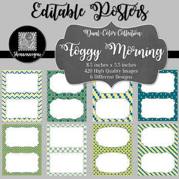 Blank Poster Templates (5.5x8.5) Dual-Color Collection: Foggy Morning