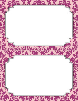 Blank Poster Templates (5.5x8.5) Dual-Color Collection: Girly