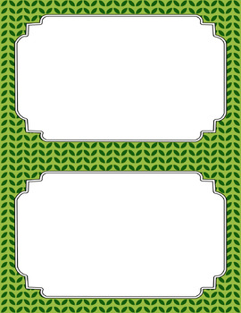 Blank Poster Templates (5.5x8.5) Dual-Color Collection: Leafy Green