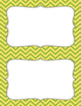 Blank Poster Templates (5.5x8.5) Dual-Color Collection: Lemongrass