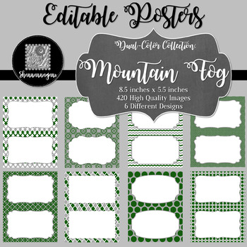 Blank Poster Templates (5.5x8.5) Dual-Color Collection: Mountain Fog