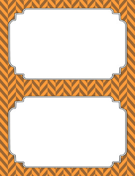 Blank Poster Templates (5.5x8.5) Dual-Color Collection: Pumpkin Patch