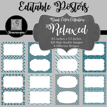Blank Poster Templates (5.5x8.5) Dual-Color Collection: Relaxed