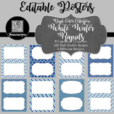 Blank Poster Templates (5.5x8.5) Dual-Color Collection: White Water Rapids