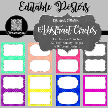 Blank Poster Templates (5.5x8.5) Essentials: Abstract Circles