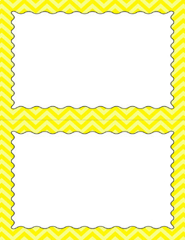 Blank Poster Templates (5.5x8.5) Essentials: Chevron