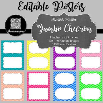 Blank Poster Templates (5.5x8.5) Essentials: Jumbo Chevron