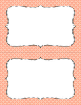 Blank Poster Templates (5.5x8.5) Essentials: Circle Diamonds (Inverted)