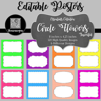 Blank Poster Templates (5.5x8.5) Essentials: Circle Flowers