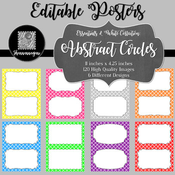 Blank Poster Templates (5.5x8.5) Essentials & White: Abstract Circles