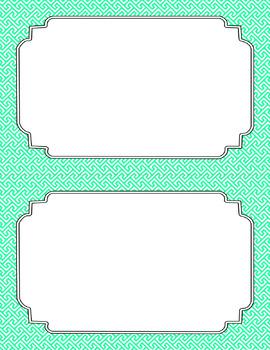 Blank Poster Templates (5.5x8.5) Essentials & White: Brick Path