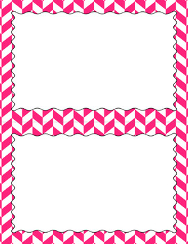 Blank Poster Templates (5.5x8.5) Essentials & White: Divided Chevron