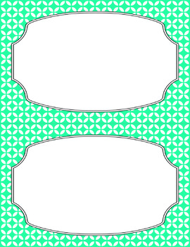 Blank Poster Templates (5.5x8.5) Essentials & White: Circle Flowers (Inverted)