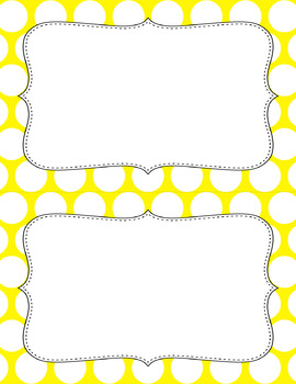 Blank Poster Templates (5.5x8.5) Essentials & White: Jumbo Polka Dots (Inverted)