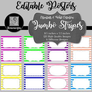 blank poster templates 5 5x8 5 essentials white jumbo stripes
